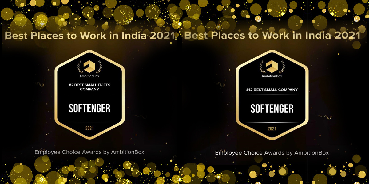 Softenger awarded by AmbitionBox